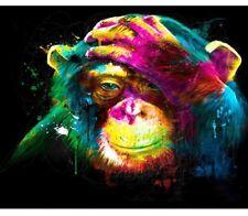 Paint By Numbers Colorful Orangutan Monkey Van-Go 40CMx50CM Canvas