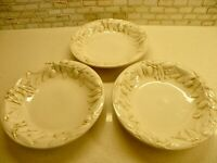 """TUSCAN OLIVE 9"""" Pasta / Soup Bowls x3 Williams Sonoma Made in Italy"""