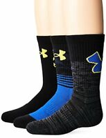 Under Armour Socks Boys Phenom Curry Crew (3 Pack)- Select SZ/Color.