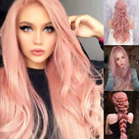 Ins Hot Sexy Women Synthetic Hair Long Wavy Full Wigs For Cosplay Costume Party
