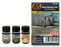 AK00072  AK Interactive - Early Panzer Weathering Set modellers pigment effects