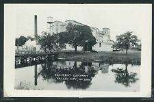 Sharp ND Valley City RPPC 1940's OCCIDENT COMPANY FLOWER MILL & Grain Elevator