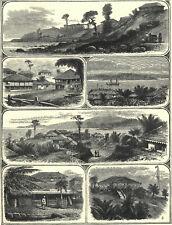 PORT BLAIR, ANDAMAN ISLANDS - VICEROY'S ASSASSINATION 1872 ENGRAVINGS