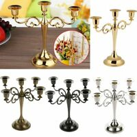 Wedding Home Decor 3/5 Arms Metal Crafts Candelabra Alloy Candle Holder Stand