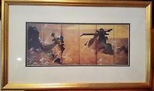 "Japanese: Gold Framed Print Beautiful & Peaceful Landscape of Japan 24.5"" x 15"""
