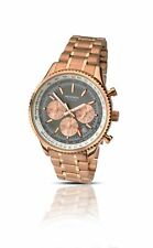 Sekonda Men's Rose Gold Plate Chronograph Watch With Brown Dial on Bracelet