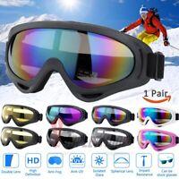 2X Snow Ski Goggles Men Women Anti-fog Lens Snowboard Snowmobile Motorcycle