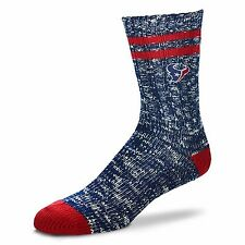 Houston Texans NFL Alpine Crew Socks Navy and Red Heel and Toe Logo Leg