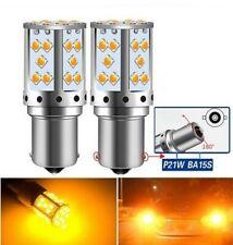 Ampoules LED BA15S P21W 30 SMD Orange Canbus pour clignotants Autos 12V