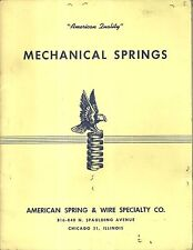 American Spring & Wire Specialty Co. Mechanical Springs Catalog