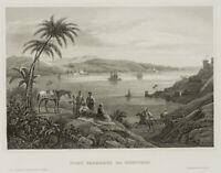 Ansicht von Fort Fanaraki im Bosporus, 19 Jhd., Stahlst.
