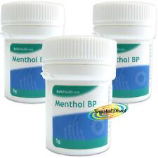 3x Bells Menthol B.P Aromatherapy Crystal 5g