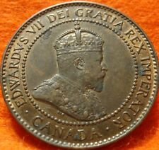 1902 AU-UNC CANADA LARGE CENT Edward VII COIN NoRes CANADIAN High Grade!--<
