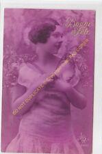 CPA Old Postcard vintage femme woman BONNE FETE Edit 3600 S.O.L.