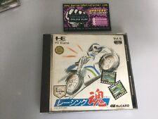 RACING Damashii Spirito di squadra Pc Engine GT LT JP Giappone in scatola con manuale buone cond