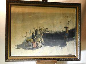 RARE-Major Artist Hau Original Oil On Canvas Abstract Seascape Painting