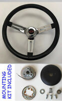 "1970-73 C10 C20 Blazer Black Chrome Spokes Steering Wheel 13 1/2"" red/blk Bowtie"