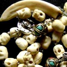 Rare Camel Bone Skull Beads ROSARY CROSS NECKLACE CATHOLIC GIFT