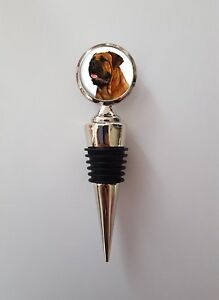 Bullmastiff Dog Polished Wine Bottle Stopper Ideal Birthday Gift N65