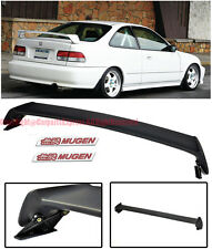 Mugen Style Rear Wing Spoiler Lip W/ Red Emblems X 2 For 96-00 Honda Civic 2Dr