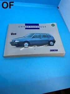 NEW FIAT UNO MK2 OWNERS MANUAL HANDBOOK BOOK 1.0 1.1 1.4 1.5 TURBO 1993