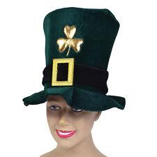 IRISH HAT GREEN VELVET ST PATRICK'S DAY FANCY DRESS