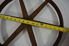 """Vintage 17"""" Industrial Wheel Cart Cast Iron 6 Spoke Antique Farm Part Steampunk"""