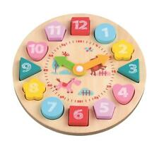 Lelin Learning Clock Teaching Hours Animals Educational Toy For Toddlers Kids