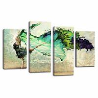 Modern Canvas Print Art Dancer Wall Art Canvas Painting Picture 4pcs-Framed