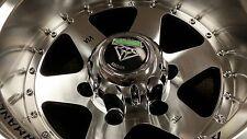 4~ 15x10 White Diamond WD-3910 Custom Truck Wheels 6x139.7 w/black windows -44mm