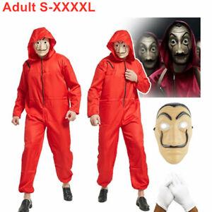 Salvador Dali Money Heist La Casa De Papel Jumpsuit Halloween Costume Adult Men