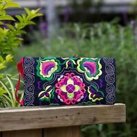 long wallet Ethnic Handmade Embroidered Wrist Clutch Bag Vintage Purse Wallet