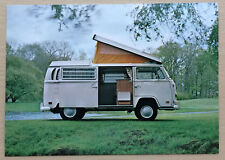 Vintage Volkswagen Factory Postcard VW Campmobile Bay Window Westfalia Campervan