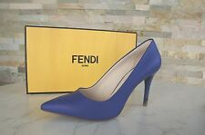 luxus FENDI Gr 40 Pumps High Heels Schuhe shoes blau blue neon NEU UVP 495 €