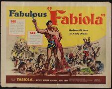FABIOLA half sheet movie poster 22x28 MICHELE MORGAN 1951