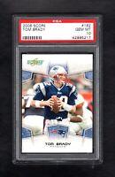 2008 Score #182 TOM BRADY New England Patriots PSA 10 Gem Mint