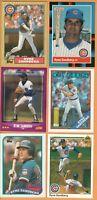 Ryne Sandberg, Chicago Cubs, HOF, 6 card LOT, 30+yr old cards, Nr Mint or better