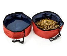 Pet Dog Travel Bowl for Food & Water Bowl Dish Portable Foldable Set of 2