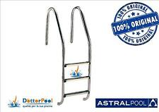 SCALETTA SCALA PER PISCINA IN ACCIAIO INOX AISI 316 3 GRADINI ASTRAL POOL