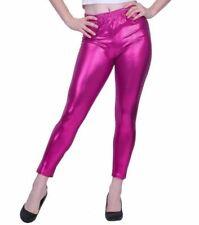 04bd013f386cc6 Women's Liquid Metallic Leggings Shiny Wet Look Stretch Pants Regular Plus  Size