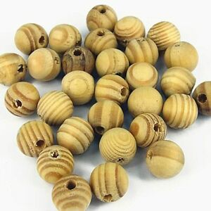 30 x Natural Large Burly Wood Round Beads 14mm Jewellery Making Craft W122