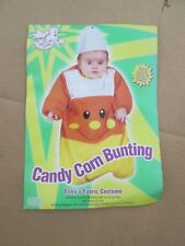 "Boys Girls baby infant CANDY CORN BUNTING Halloween Costume sz 25"" long"