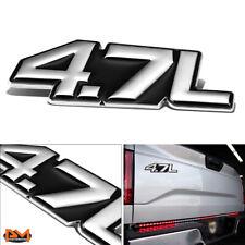 """""""4.7L""""Polished Metal 3D Decal Silver&Black Emblem For Maserati/Mercedes/Dodge"""