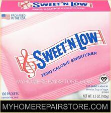 100 / $ 8 ! FREE S&H ! 1 BOX OF 100— SWEET N LOW —ZERO CALORIE SWEETENER PACKETS