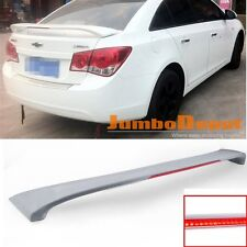 US Unpainted Rear Trunk Spoiler Wing w/LED Brake Light Fit Chevy Cruze 11-15