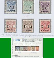ITALY COLONIE OLTRE GIUBA 1925 SEGNATASSE PER VAGLIA SOPRASTAMP S.11 MNH** CERT