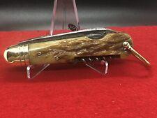 Vintage Bone Handle Camp Knife / Shamrock