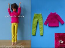 Vintage Barbie Doll 1797 Ski Scene Fuchsia Sweater Yellow Pants PIT Jamie Stacey
