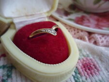 CLASSIC VINTAGE 9CT GOLD and DIAMOND RING SIZE O 9 ct YELLOW GOLD