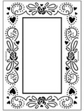 CRAFTS TOO Embossing Folder HAPPY VALENTINES FRAME CTFD3038 10.5cm x 15cm